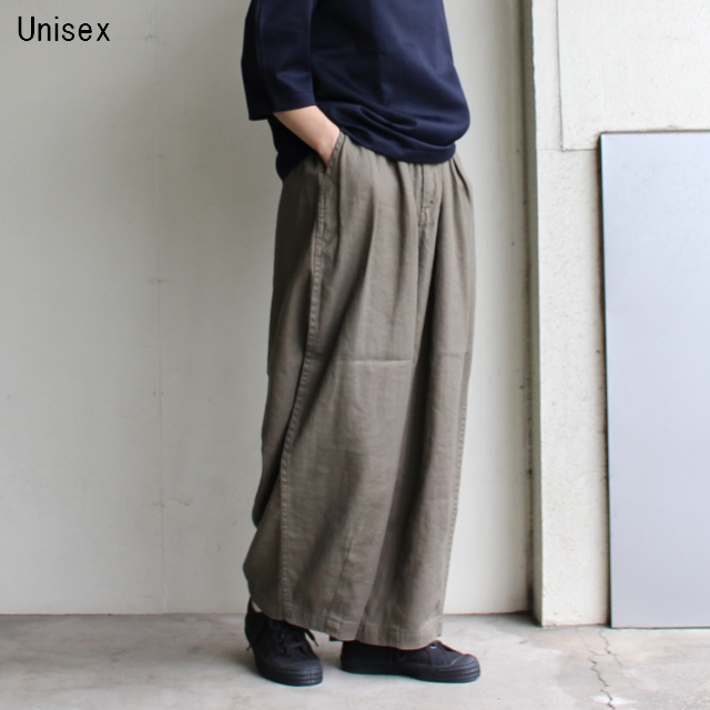 HARVESTY リネンコットンサーカスパンツ LINEN COTTON CIRCUS PANTS A11803 (OLIVE)