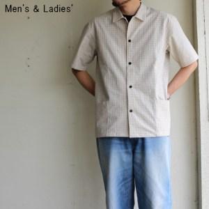 THE HINOKI オーガニックコットン半袖チェックシャツ