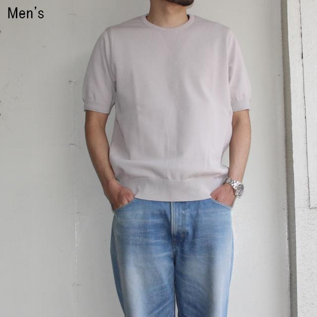ORGUEIL 半袖リブニットTシャツ Knit Tshirt  OR-4100 (GRAY)