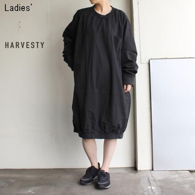 HARVESTY コットンツイルエッグワンピース A41802 (BLACK)