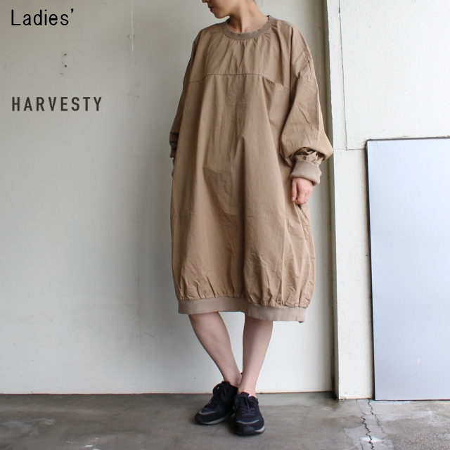 HARVESTY コットンツイルエッグワンピース A41802 (BEIGE)