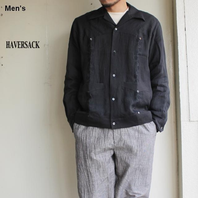 HAVERSACK ラミーローングアヤベラシャツ 821931 (ブラック)