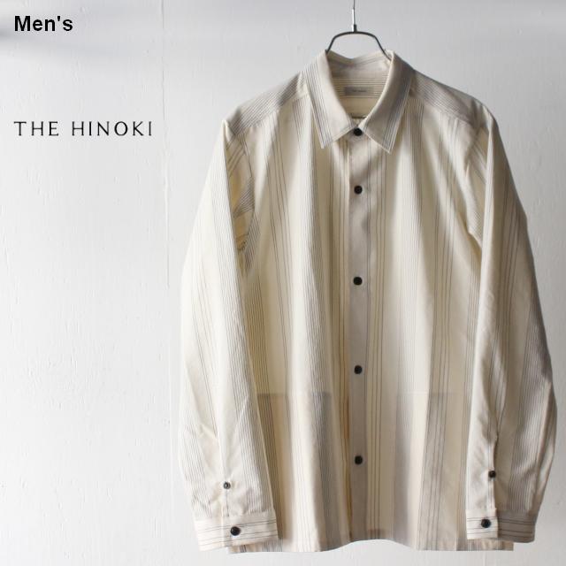 THE HINOKI オーガニックコットンレギュラーカラーシャツ TH19S-15 (Stripe)