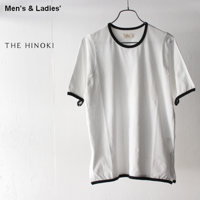 THE HINOKI オーガニックコットンリンガーTee TH19S-30 (White)