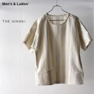 THE HINOKI オーガニックコットンPOシャツ TH19S-17 (ストライプ)