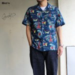 Orgueil アロハシャツ Open Collared Shirt OR-5030B (ネイビー)