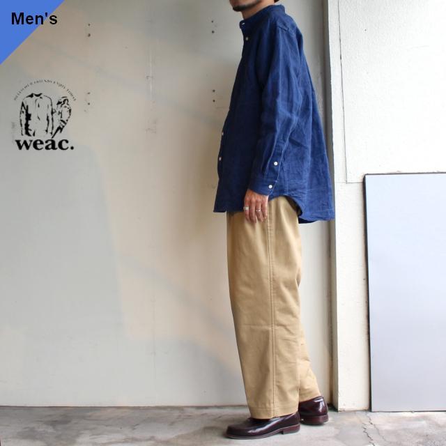 weac. 和紙リネンインディゴオーバーシャツ JOURNEY