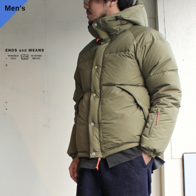 ENDS and MEANS  ダウンジャケット Down Jacket EM192J002 カーキ