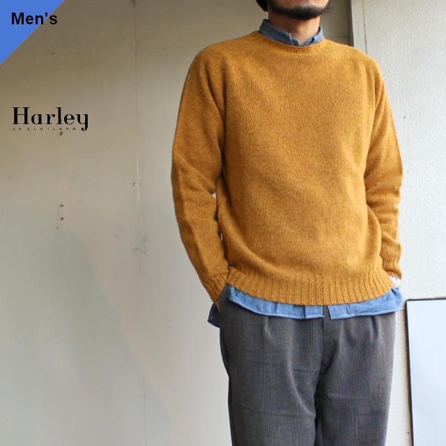 Harley of scotland シェットランドニットクルー Cummin クミン