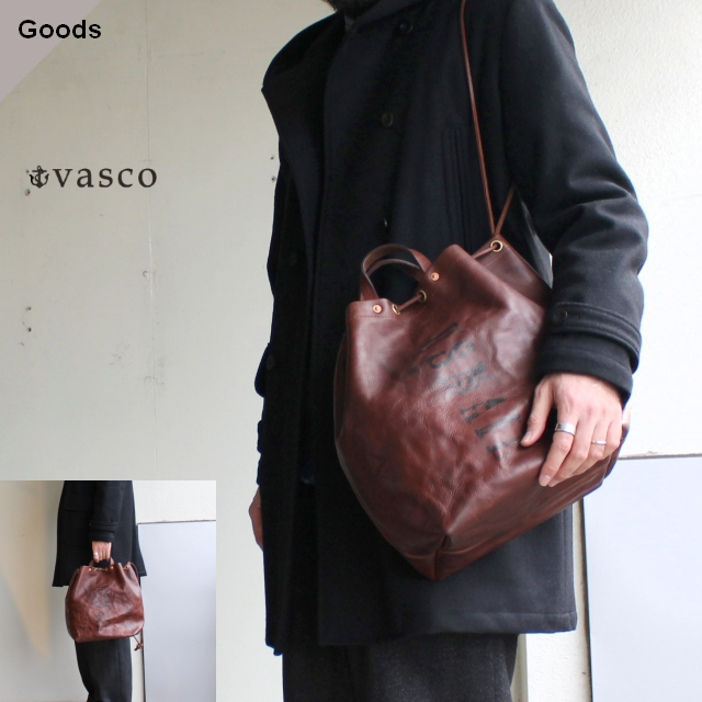 vasco LEATHER MAILMAN PURSE BAG レザー巾着バッグ VS-210L ブラウン