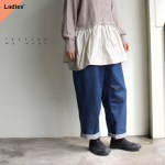 TEXTURE WE MADE ワイドタックトラウザー WIDE TUCK TROUSERS CTX-006 ライトインディゴ