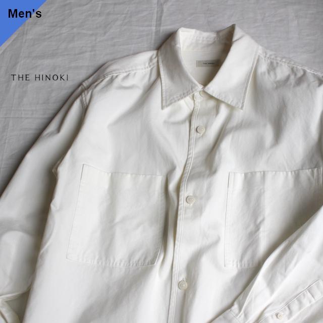 THE HINOKI オーガニックコットンルーズフィットシャツ TH20S-5 ホワイト