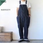 HARVESTY ハーベスティ DENIM CLOTH OVERALLS デニムクロスオーバーオール A12007