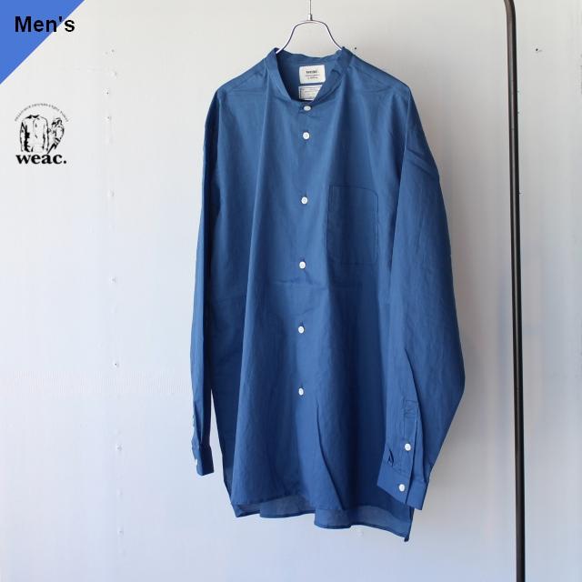 weac. ウィーク CHIVIC ルーズフィットボックスシャツ BLUE