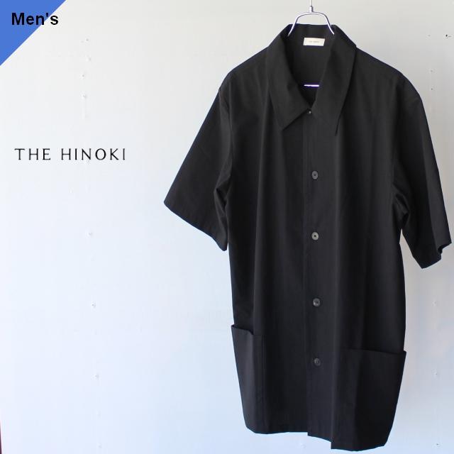 THE HINOKI コットンボイルパラシュートクロス半袖シャツ TH20S-15 ブラック