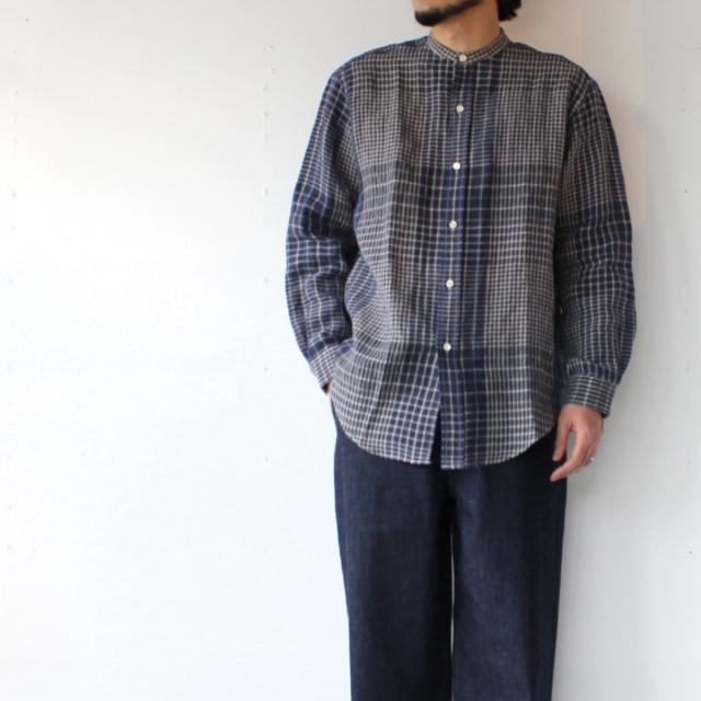 【Men's】 春から夏まで着たいバンドカラーシャツが入荷! / HAVERSACK