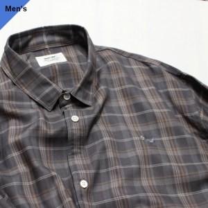 weac. PUGCHAN レギュラーシャツ (GRAY CHECK)
