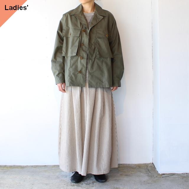 HAVERSACK コットンリネンウェザーシャツジャケット Khaki