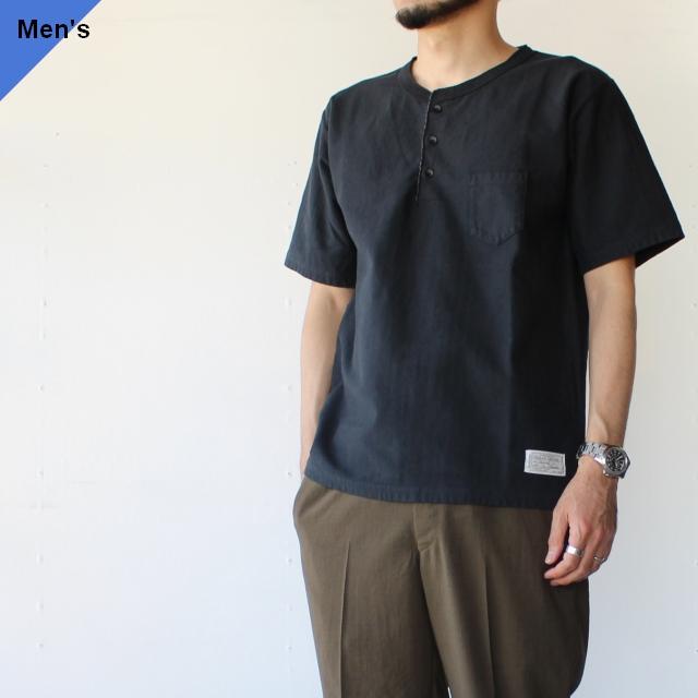 Orgueil オルゲイユ Henry neck t-shirt ヘンリーネックTee OR-9058 BLACK