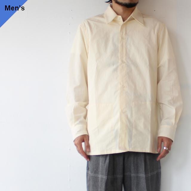 オーガニックコットンウェザースリットポケットシャツ Organic Cotton Weather Slit Pocket Shirt TH21W-1