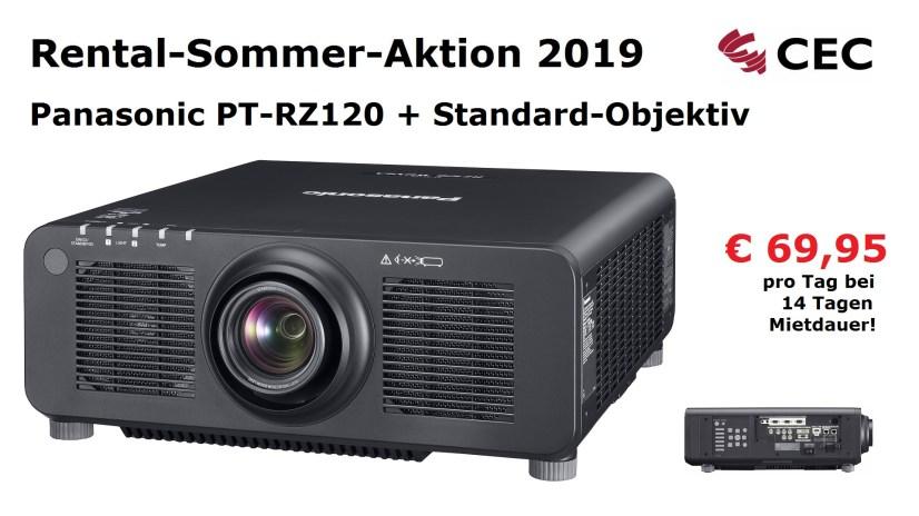 Panasonic PT-RZ120, RSA2019, Rental-Sommer-Aktion, Medientechnik Hannover, Dry Hire Hannover, Konferenztechnik Hannover
