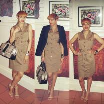 Classic Neutrals: Trench Dress
