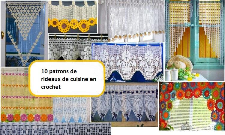 rideaux de cuisine en crochet