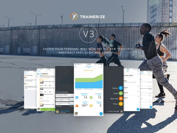 Trainerize the app used for Fat Loss, Strength Training, Getting Fitter, Shaping Up and other programs