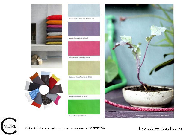 Collage C-More interieurontwerp