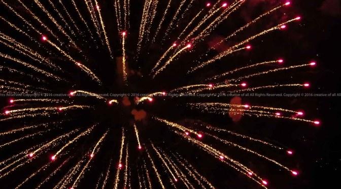 夏の終わりに三好稲荷閣「大提灯まつり」の花火を。