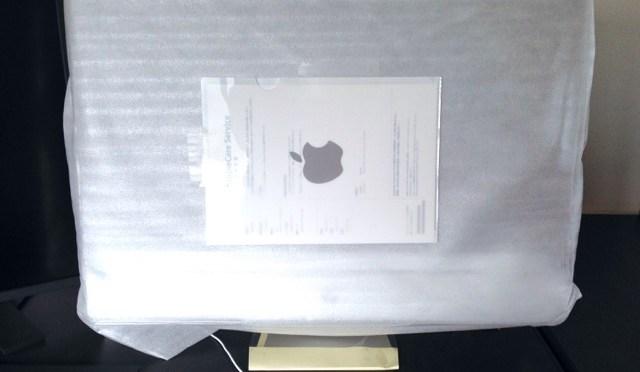 iMac 帰ってきました。