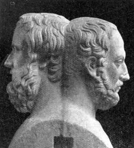 Hérodote et Thucydide, inventeurs de l'histoire. Bustes du Musée archéologique de Naples. [d.r.]