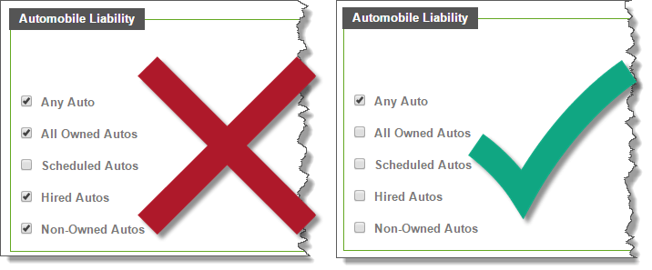 Certify® Automobile Liability 2