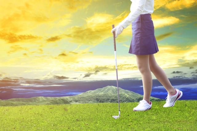 女子ゴルフの風景