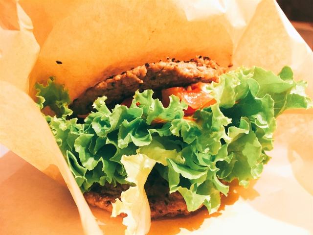 糖質制限のハンバーガー
