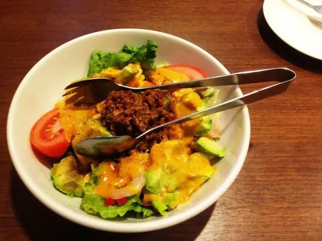 ひき肉サラダ