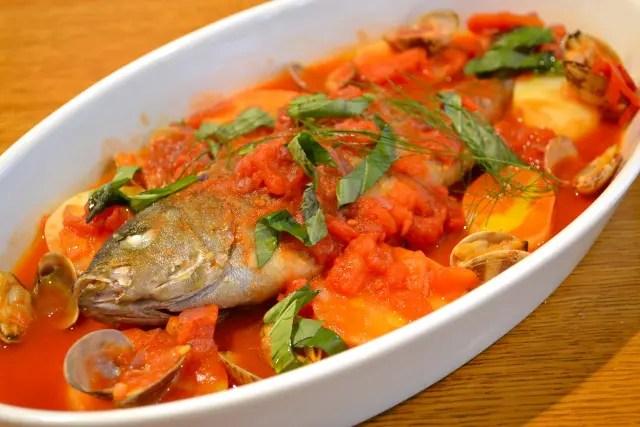 「ごごナマ」 アクアパッツァの電子レンジレシピ!魚介のうま味たっぷり!