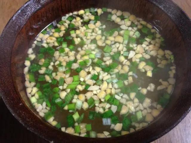 納豆味噌汁