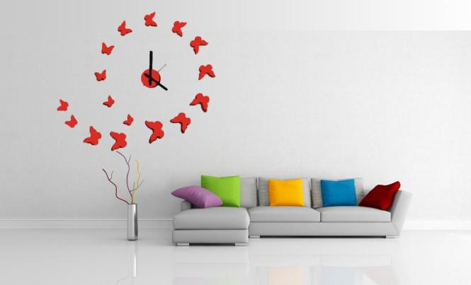 Wall Clock Canvas Malaysia Set Diy Office