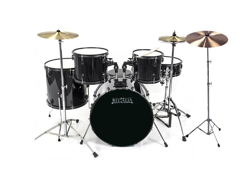 Budget Beginner Drum Set  Cymbal Incl  end 6 1 2017 5 15 PM  Budget Beginner Drum Set  Cymbal Included    BLACK