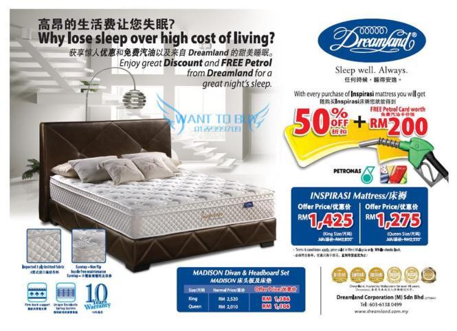 Dreamland Mattress Promotion 50 S