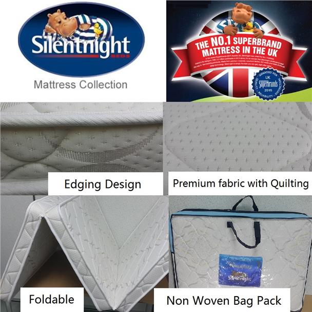 Free Delivery Silentnight Premium Foldable Mattress Gbag L 10