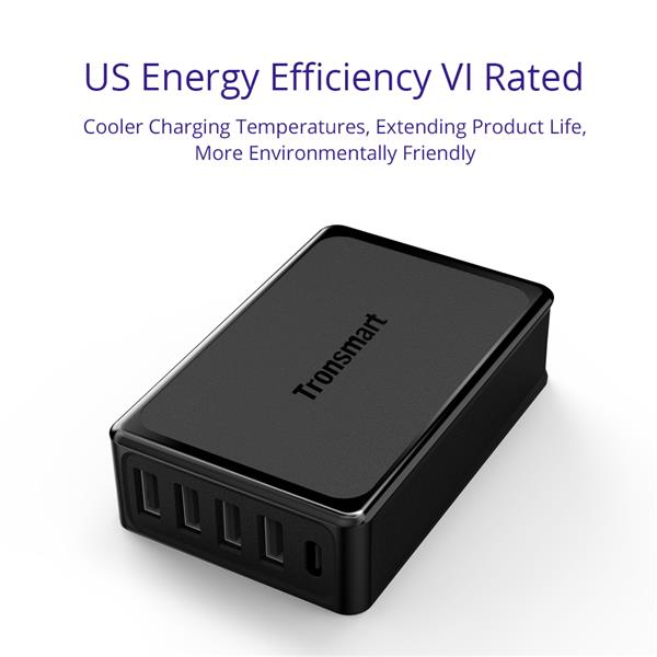 Tronsmart U5P 5 Port Charger Quick Charge 3.0 Power Delivery iPhone 8