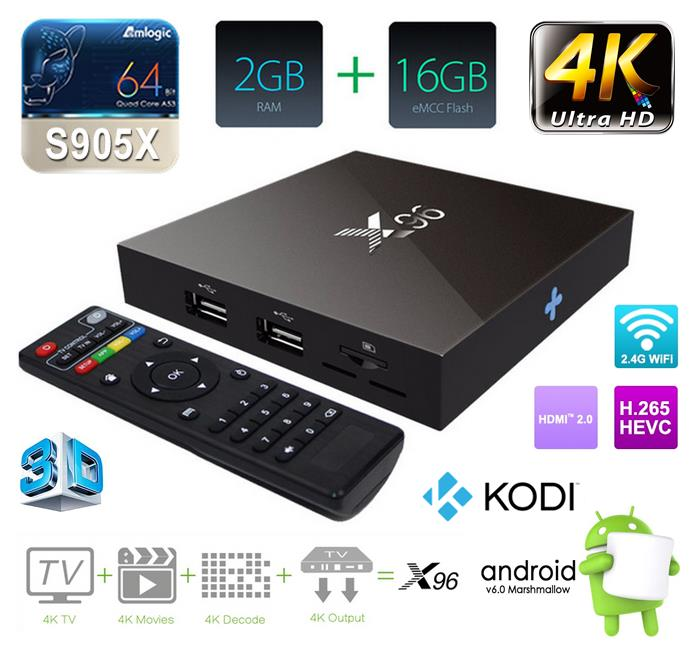 X96 2GB RAM 16GB ROM S905X ANDROID 6. (end 9/8/2017 6:21 AM)