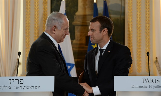 Netanyahu and Macron