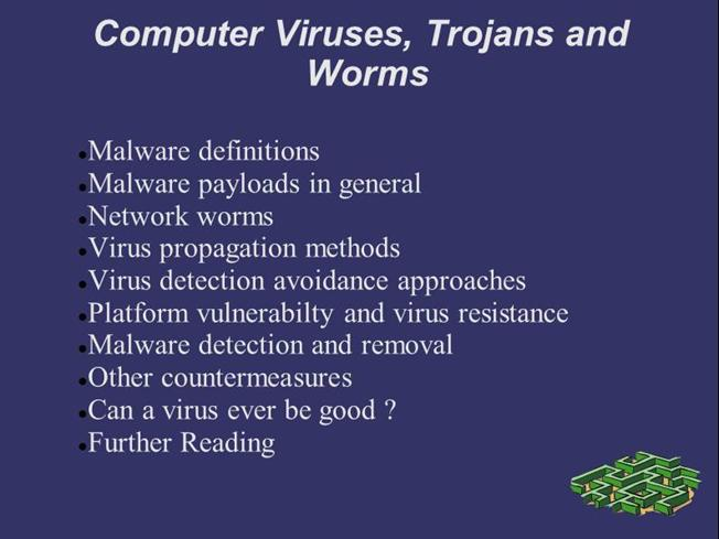 A Computer Virusis A Program That Can Replicate Itself And Spread From One To Another The Term Virus Is Also Commonly But Erroneously