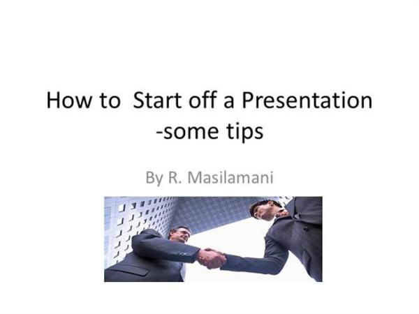 how to start a presentation # 18