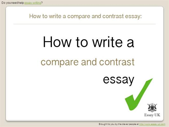 College Compare And Contrast Essay Examples
