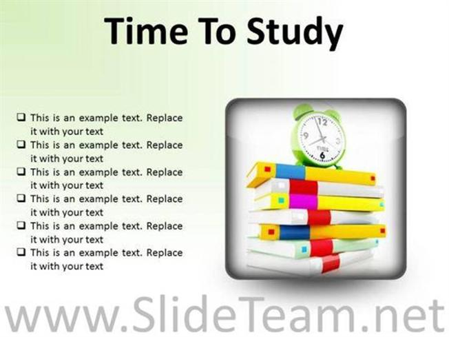 TIME TO STUDY EDUCATION POWERPOINT PRESENTATION SLIDES S ...