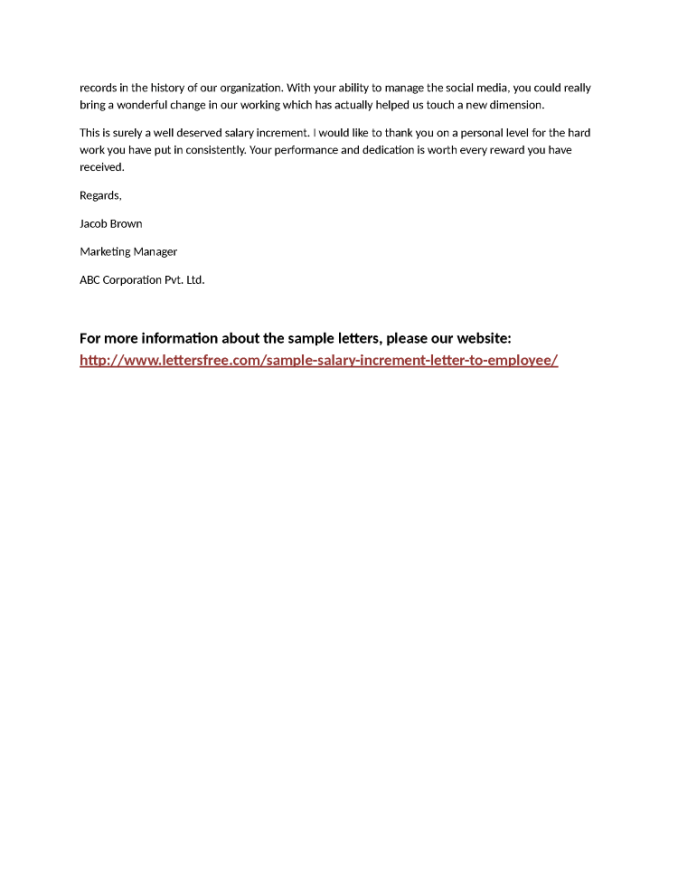Sample letter for salary increase newsinvitation doc 768994 sample increment letter request salary spiritdancerdesigns Choice Image